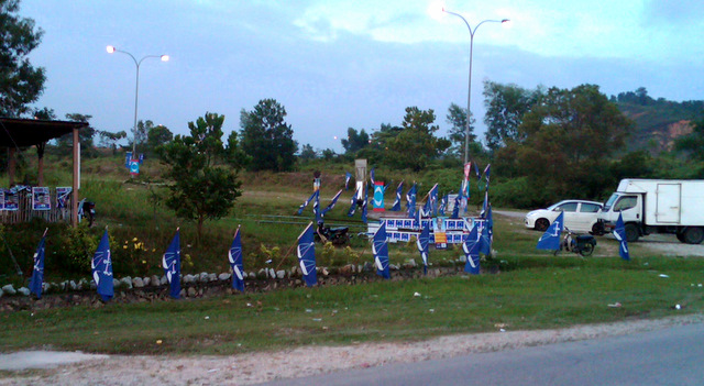 Barisan flags outnumbering ours
